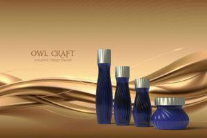 化粧品ボトルーCGモデリング